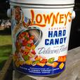 VINTAGE 1955's LOWNEY'S HARD CANDY TIN CAN - SHERBROOKE, QUE.
